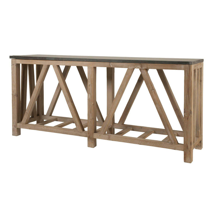 "Blue Stone 71"" Reclaimed Wood Console Table 