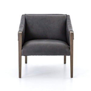 Bauer Top-Grain Leather Chair (Black) - Abbott Collection - Parker Gwen