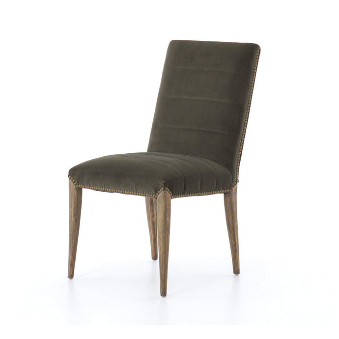 Nate Dining Chair (Modern Velvet Loden) - Abbott Collection - Parker Gwen