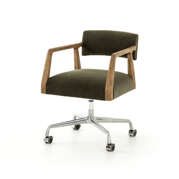 Tyler Desk Chair (Modern Velvet Loden) - Abbott | Desk Chair | parker-gwen