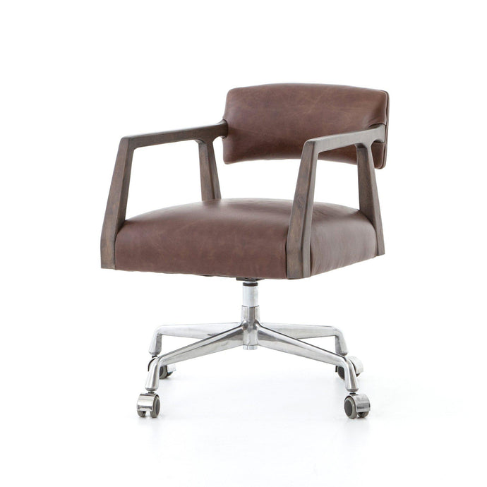 Tyler Desk Chair (Havana Brown Leather) - Abbott | Desk Chair | parker-gwen