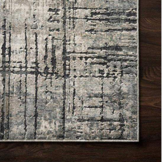 Cascade Viscose Rug Collection - Multiple Sizes & Runners (Marine/Grey) - Parker Gwen
