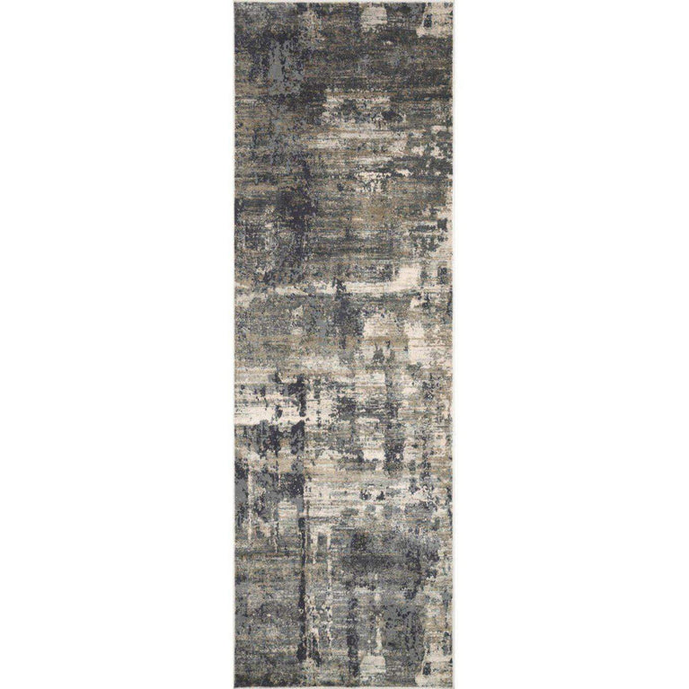 Cascade Viscose Rug Collection - Multiple Sizes & Runners (Ivory/Charcoal) - Parker Gwen