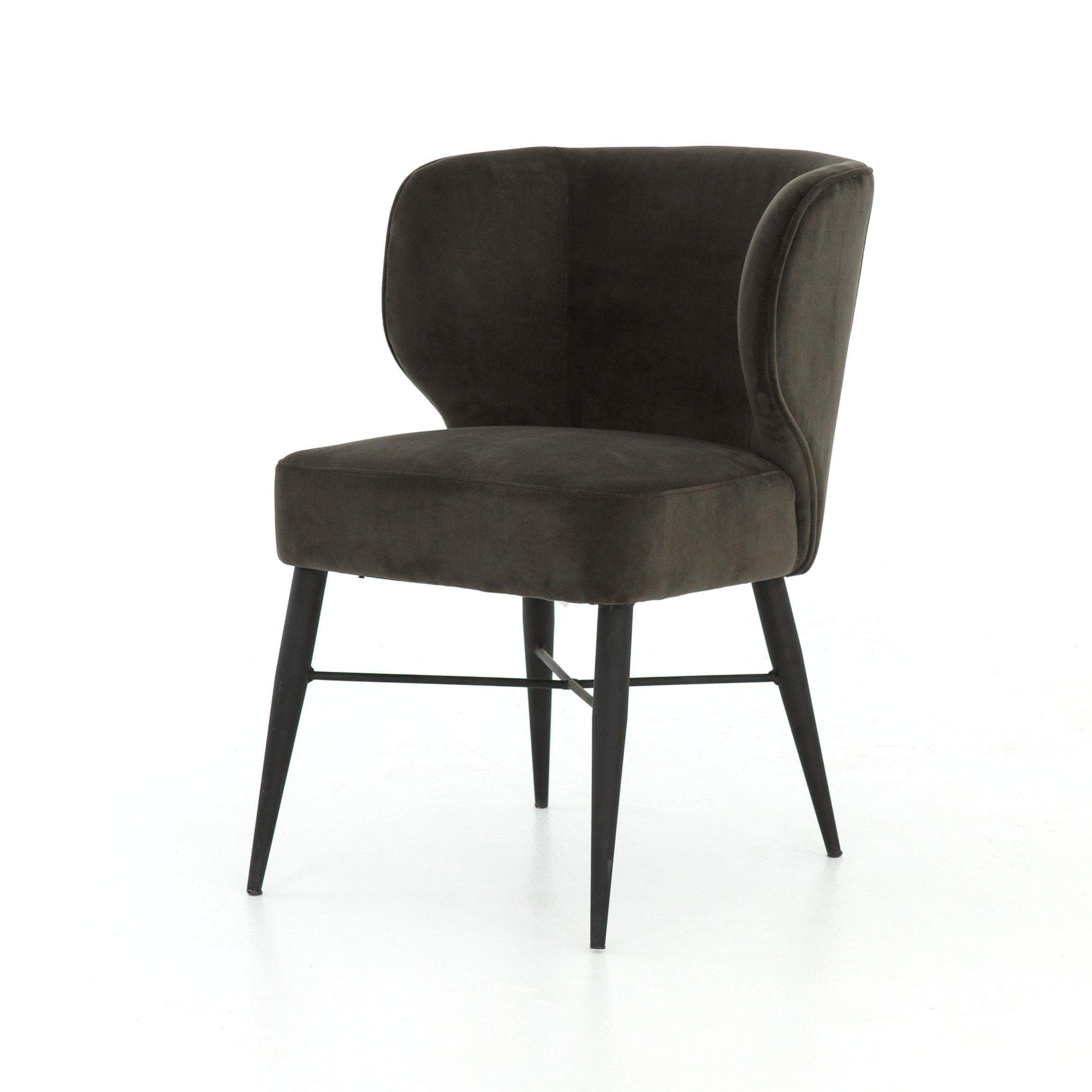 Arianna Velvet Dining Chair (Bella Smoke) - Parker Gwen