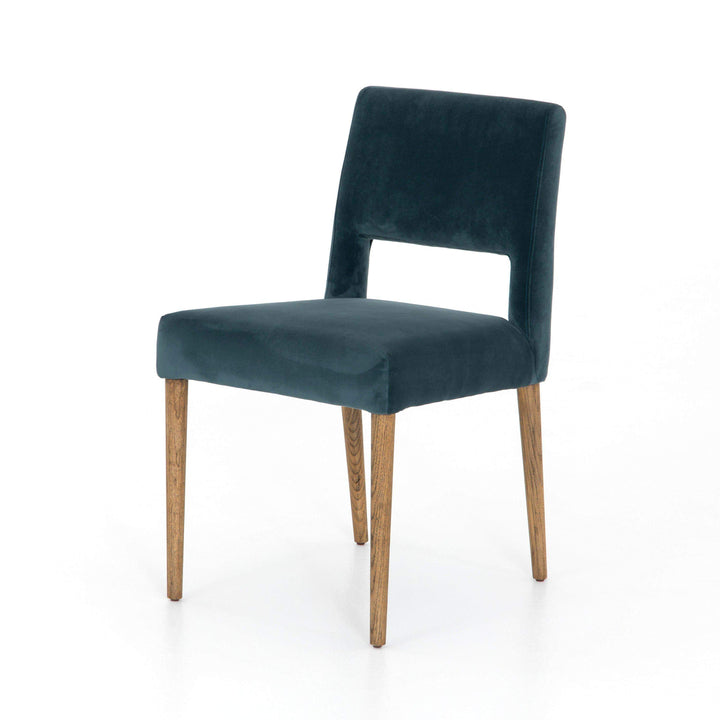 Joseph Velvet Teal Dining Chair - Ashford Collection - Parker Gwen