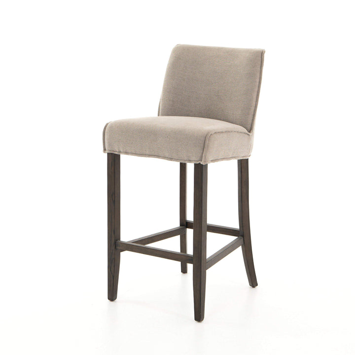 Aria Bar Stool (Heather Twill Stone) - Parker Gwen