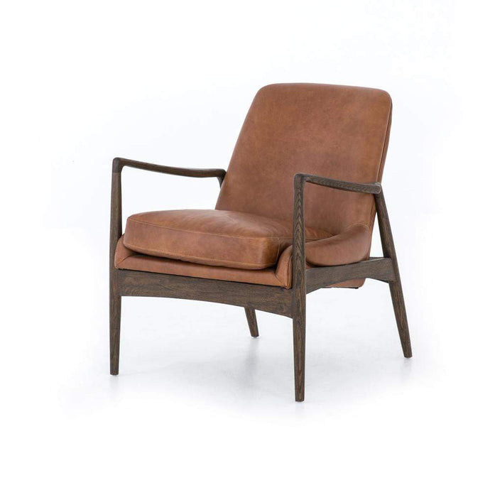 Braden Leather Chair (Brandy) - Ashford Collection - Parker Gwen