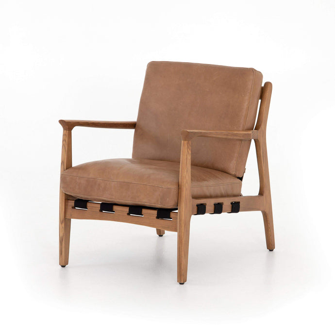 Silas Leather Chair: (Patina Copper) - Bishop Collection - Parker Gwen