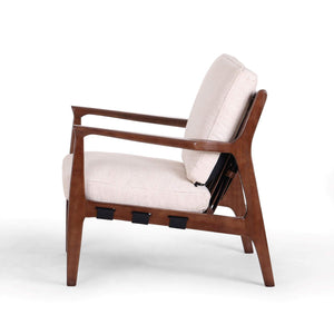 Silas Leather Chair: (Osaka Blanco) - Bishop Collection - Parker Gwen