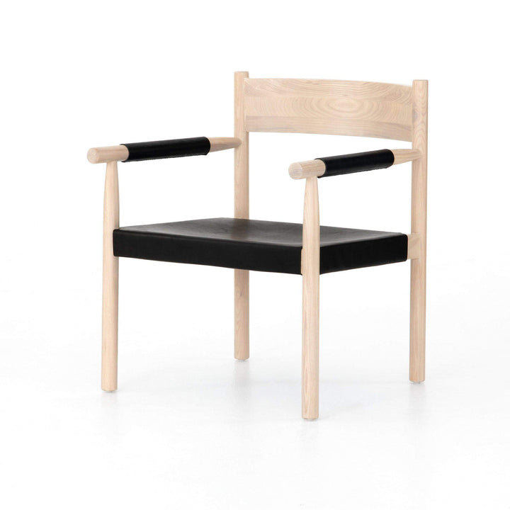 Acton Leather & Ash Chair (Ebony Natural) - Parker Gwen