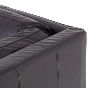 "Bechwith 94"" Leather Sofa (Rider Black) - Carnegie Collection-Sofa-Parker Gwen"