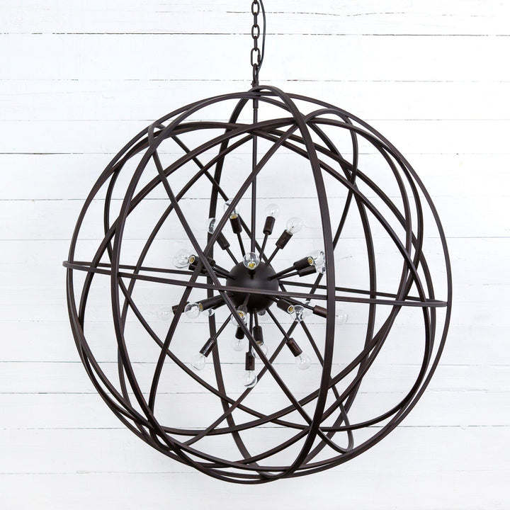 "Tennyson 44"" Large Chandelier (Rust)"