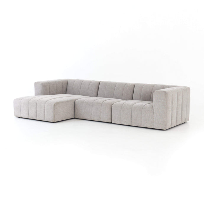 Langham Channeled 3-Piece Sectional - Left Chaise - Parker Gwen