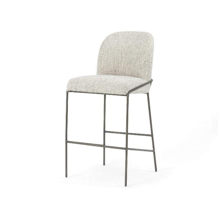 Astrud Bar or Counter Stool (Lyon Pewter) - Parker Gwen