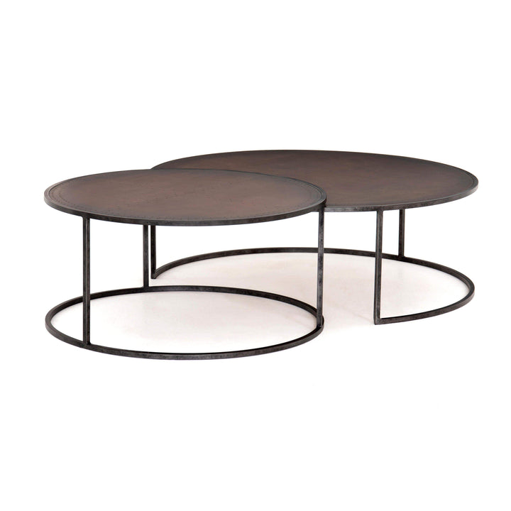 Catalina Nesting Coffee Table (Antique Copper) - Hughes Collection - Parker Gwen