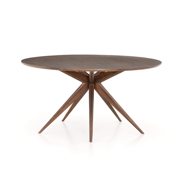 "Hewitt 59"" Round Wood Dining Table (Acorn) - Hughes Collection - Parker Gwen"