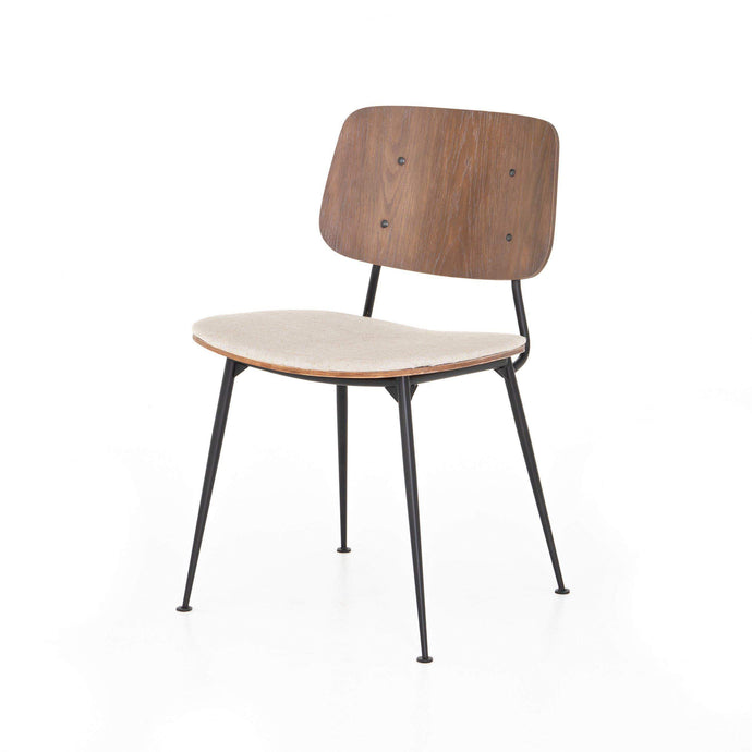 Jared Dining Chair (Acorn / Heavy Linen) - Hughes Collection - Parker Gwen