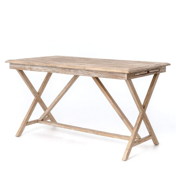 Palma Reclaimed Wood Desk (Whitewash) - Hughes Collection - Parker Gwen