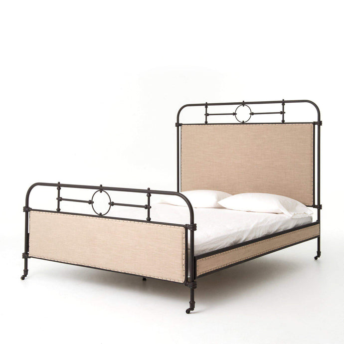 Berkley Metal & Ecru Industrial Bed (Twin, Queen, & King) - Parker Gwen