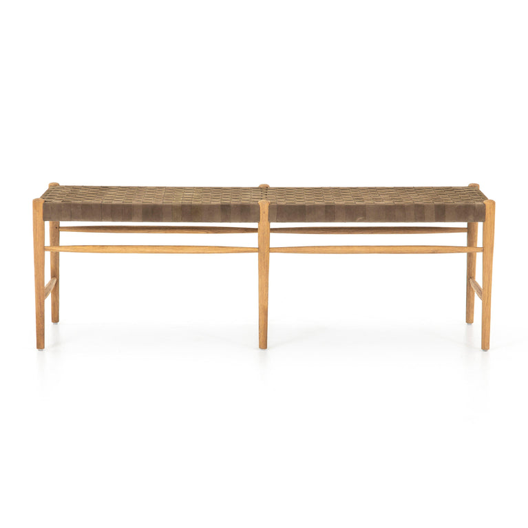 "Wyatt 57"" Leather Bench - Irondale Collection 