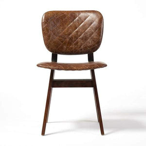 Sloan Top-Grain Leather Dining Chair - Irondale Collection (Brown) - Parker Gwen