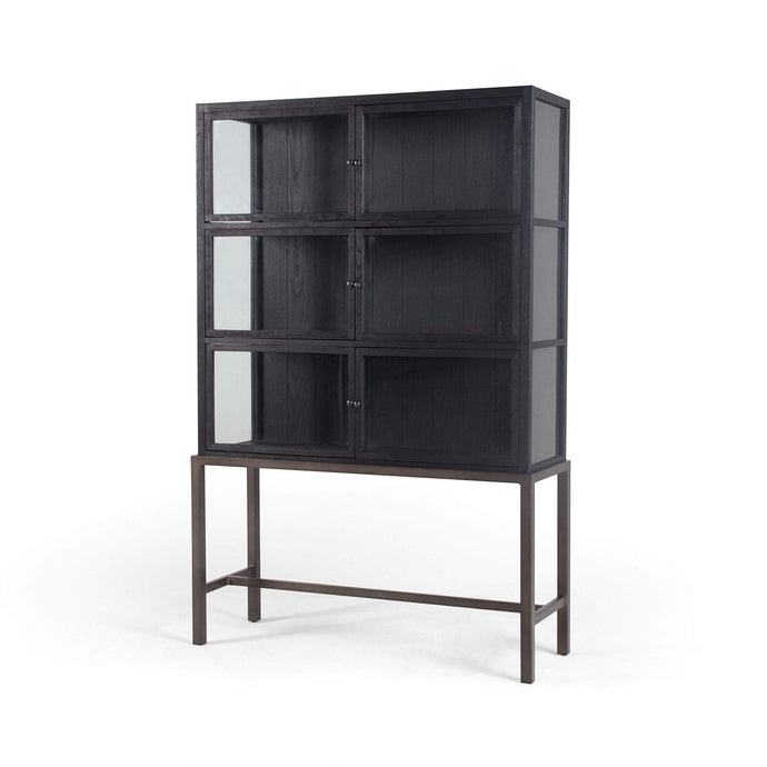 Spencer Curio Cabinet (Drifted Black) - Irondale Collection