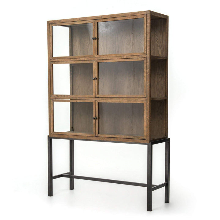 Spencer Curio Cabinet (Drifted Oak) - Irondale Collection - Parker Gwen
