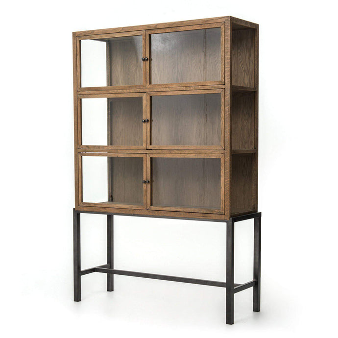 Spencer Curio Cabinet (Drifted Oak) - Irondale Collection