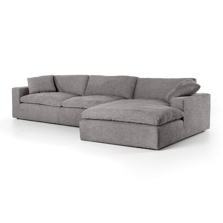"Plume 136"" Left or Right Chaise Sectional (Harbor Grey) - Parker Gwen"