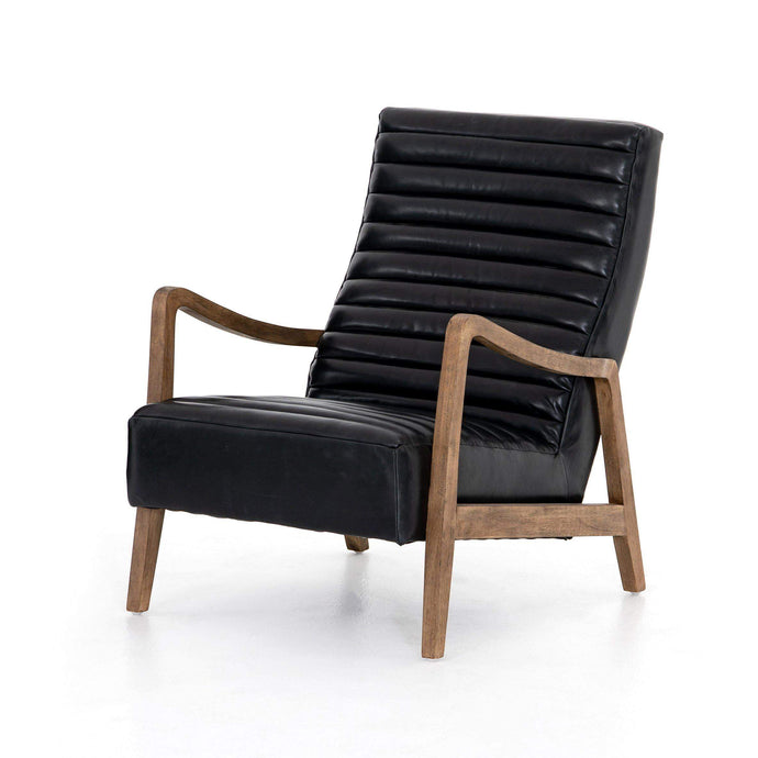 Chance Top-Grain Leather Chair (Dakota Black) - Kensington Collection - Parker Gwen