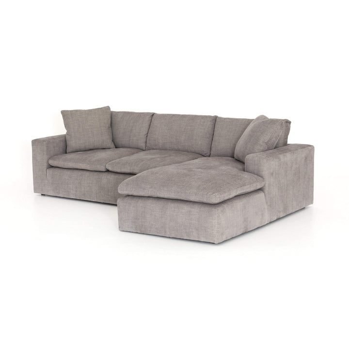 "Plume Sectional 2-Piece 106"" Left or Right Chaise (Harbor Grey) - Kensington - Parker Gwen"