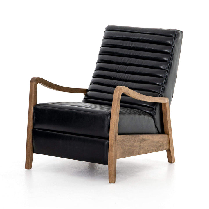 Chance Leather Recliner Chair (Dakota Black) - Kensington Collection - Parker Gwen