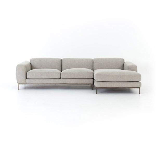 Benedict 2-Piece Sectional with Left or Right Facing Chaise - Parker Gwen