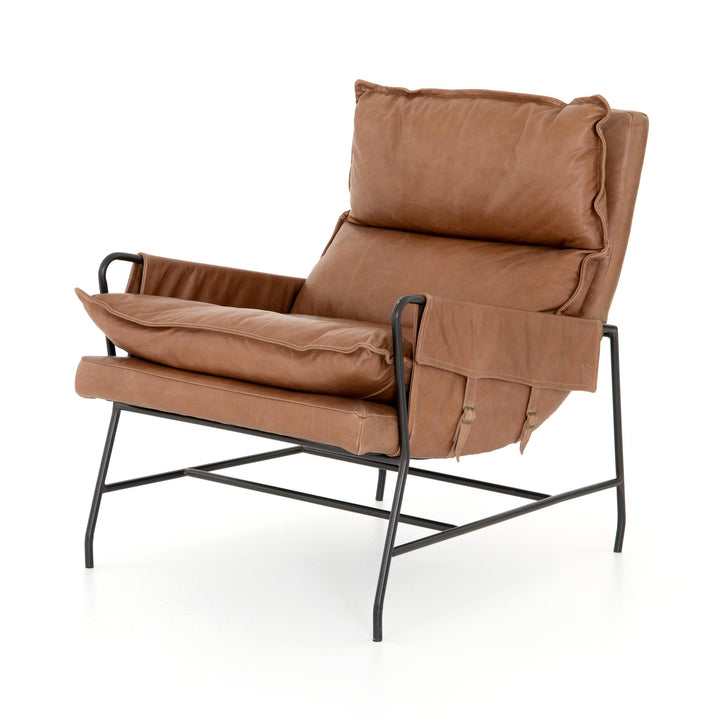 Taryn Leather Accent Chair (Chaps Saddle)