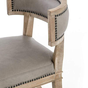 Carter Leather Dining Chair (Light Grey) - Kensington - Parker Gwen
