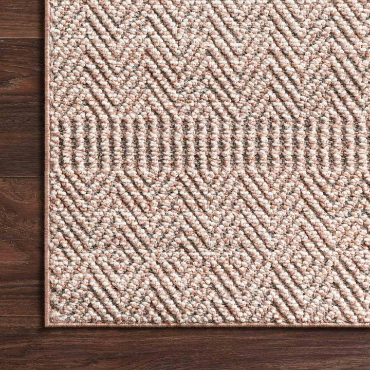 Loloi Cole Collection Indoor/Outdoor Rugs - Multiple Sizes (Blush/ Ivory)