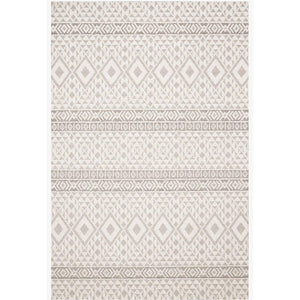 Loloi Cole Collection Indoor/Outdoor Rugs - Multiple Sizes (Silver/Ivory)
