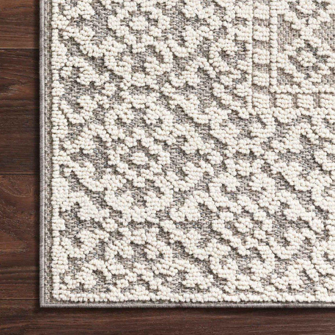 Loloi Cole Collection Indoor/Outdoor Rugs - Multiple Sizes (Grey/Ivory)