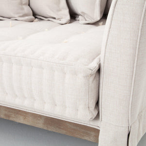 "Theory Collection Day Bed 84"" Sofa: Light Sand"