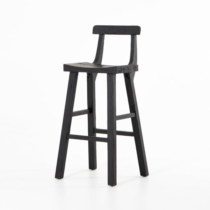 Cassell Reclaimed Bar & Counter Stool (Black)