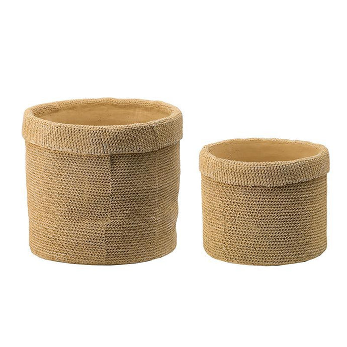 Julia Set of 2 Woven Cement Planters | Pot & Planter | parker-gwen