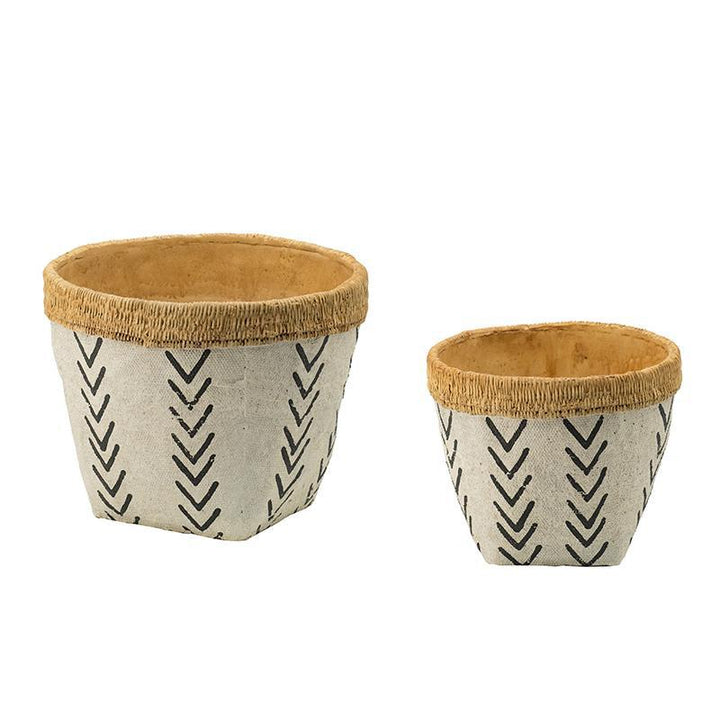 Maria Set of 2 Cement Planters | Pot & Planter | parker-gwen