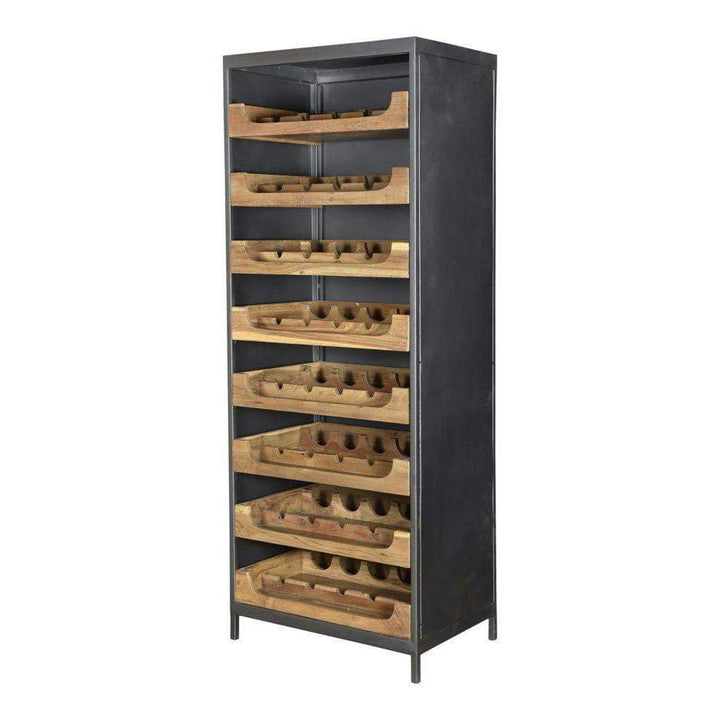 "SPEAKEASY TEAK 69.5""H WINE CABINET"