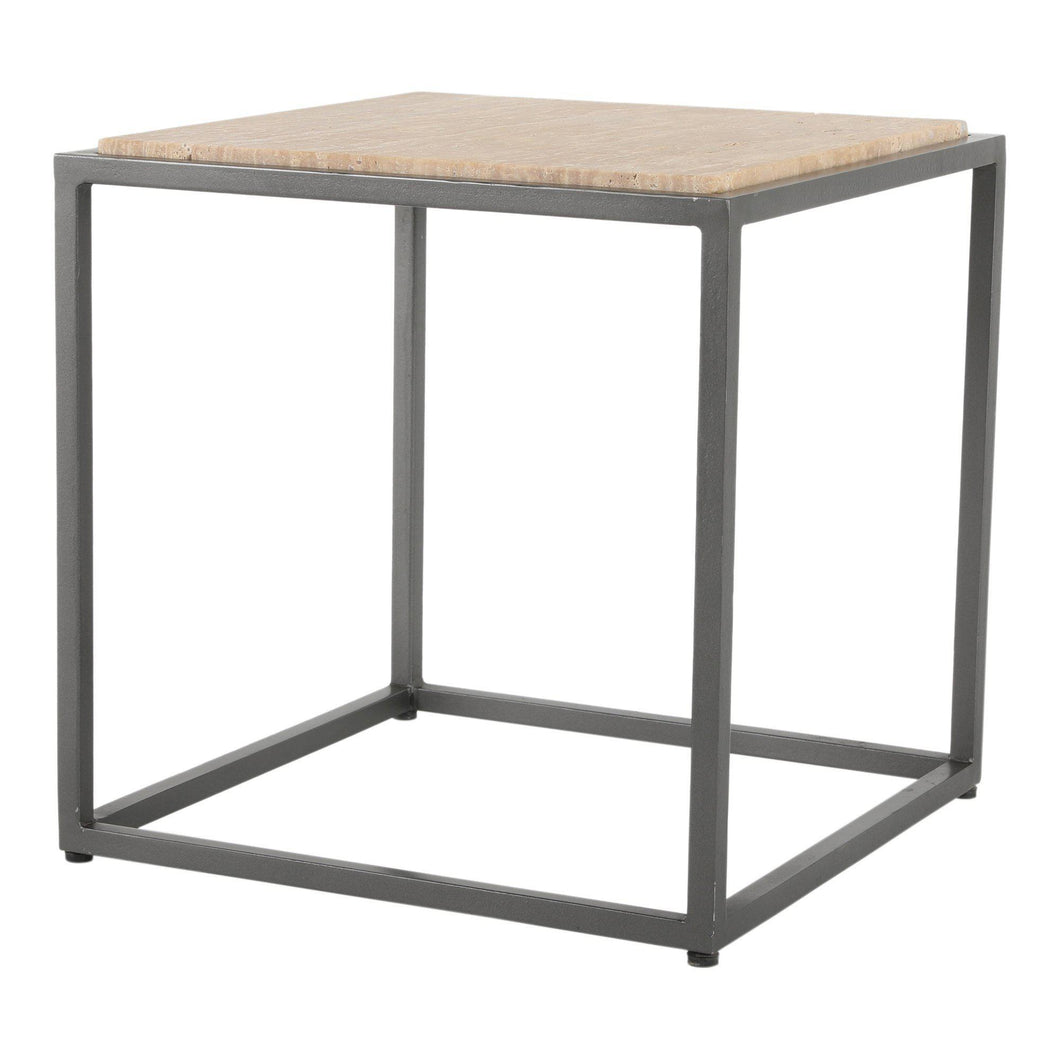 Winslow Marble Side Table (Cappuccino)