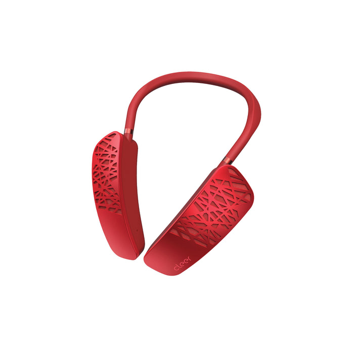 Cleer Audio Halo Smart Wearable Neck Speaker with Google Assistant (Red) | Bluetooth Speaker | parker-gwen