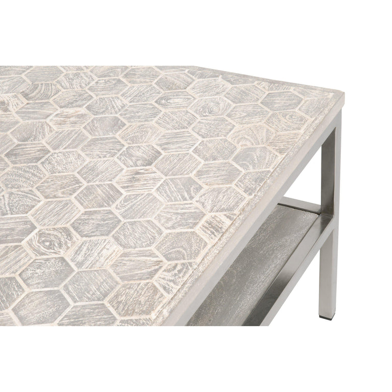 "Hex 50"" Coffee Table"