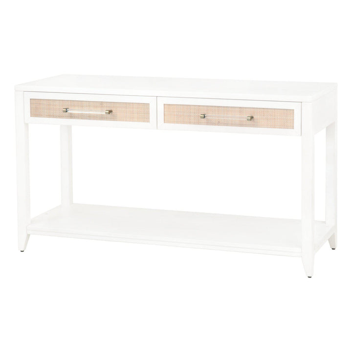 "Holland 2-Drawer 54"" Rattan Console Table"