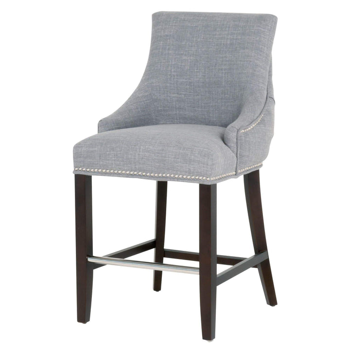 Avenue Bar or Counter Stool (Smoke Fabric) - Parker Gwen