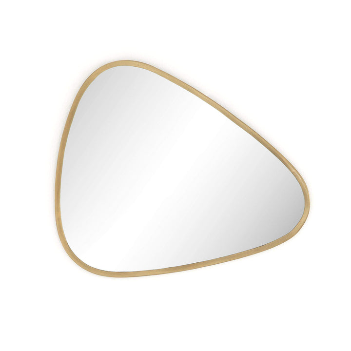 "Brinley 24"" Triangle Mirror (Antique Brass) - Parker Gwen"