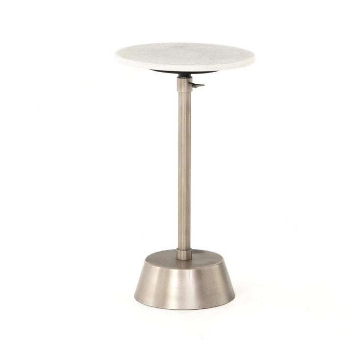 Bree Adjustable Marble Accent Table (Antique Pewter) - Parker Gwen